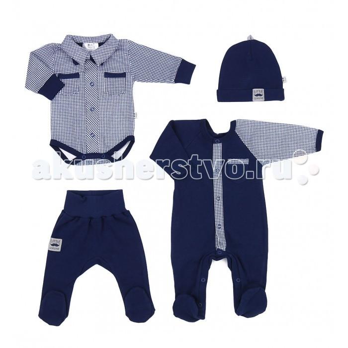 Детская одежда , Комплекты детской одежды Marija Комплект для мальчика (Боди, штанишки, комбинезон, шапка и галстук бабочка) арт: 460756 -  Комплекты детской одежды