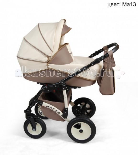Коляска Alis Mateo 2 в 1Mateo 2 в 1Коляска Alis Mateo 2 в 1, выполненная в привлекательном дизайне коляска обеспечит комфорт Вашему малышу. Очень удобная и легкая в пользовании. Амортизаторы и надувные колеса обеспечат мягкую езду. В комплект входят: шасси, люлька с матрасиком, прогулочный блок, накидка на ножки, сумка для мамы.  Люлька: имеется ручка для переноски увеличенный козырек вентиляционное окно регулируемый подголовник накидка с высоким воротом деревянное дно Размер: 35 x 75 см  Прогулочный блок: устанавливается в любом направлении регулируемая спинка регулируемая подножка 5-ти точечные ремни съёмный бампер  Шасси: компактно складывающаяся рама регулируемая по высоте ручка в кожаном чехле поворотные передние колеса с фиксацией регулируемая задняя подвеска стояночные тормоза.<br>