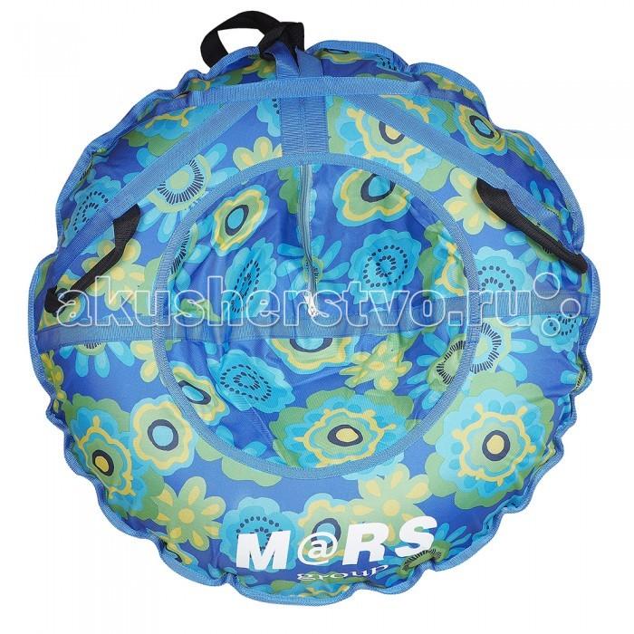 Зимние товары , Тюбинги Mars Цветы на синем арт: 405979 -  Тюбинги