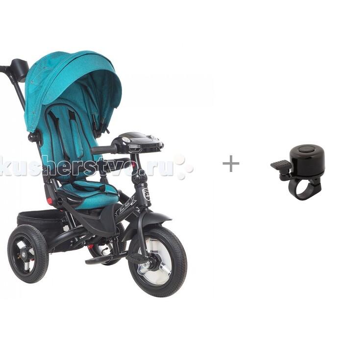 Велосипед трехколесный Mars Mini Trike T400 Jeans с дождевиком на велосипед Kid Fence