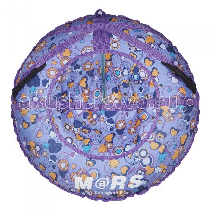 Зимние товары , Тюбинги Mars Сиреневые сердца арт: 405994 -  Тюбинги