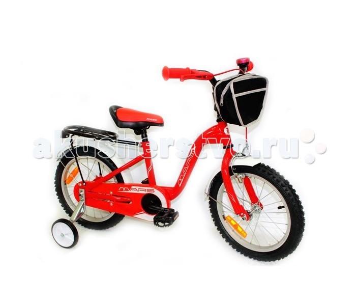 Велосипед двухколесный Mars G1601G1601Велосипед двухколесный Mars G1601 предназначен для детей от 3-х до 7-ти лет.  Особенности: Сидение и руль регулируются в зависимости от роста ребёнка Мягкое сидение спортивной формы оснащено ручкой для переноски велосипеда. Геометрия рамы велосипеда и высокое качество втулок обеспечивают более лёгкое движение Для того, чтобы защитить голову ребнка при резкой остановке велосипеда на руле устанавливается мягкая поролоновая накладка Дополнительные маленькие колёса сделаны из пластика с прорезиненной основой Велосипед оснащён широкими удобными педалями Насос в комплекте<br>