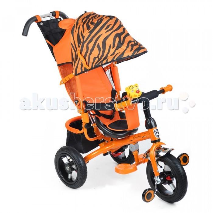 Велосипед трехколесный Mars Mini Trike 000777Mini Trike 000777Велосипед трехколесный Mars Mini Trike 000777 (Марс Трайк Мини) обеспечит комфорт и удовольствие для вашего малыша во время прогулки.  Такой универсальный детский транспорт позволяет ребенку как ездить самостоятельно, так и кататься под контролем взрослого. При самостоятельном передвижении ребенок будет приводить велосипед в движение при помощи педалей и управлять им рулем. Если же велосипед выполняет функцию прогулочной коляски, взрослый сможет толкать его перед собой при помощи специальной ручки, которая также служит и для управления.  Особенности: Стальная облегченная рама. Прочная съемная ручка управления велосипедом. Независимый от ручки управления &#8213; сложный регулируемый капюшон с фиксатором уровня открытости. Смотровое окошко на задней части капюшона. Сиденья с высокой воздухопроницаемой спинкой (3 положения)и мягким тканевым вкладышем. Разъемный бортик удобной конфигурации. Складная подножка. Рифленые педали. Бесшумные надувные колеса (переднее 12, заднее 10 дюймов). Переднее колесо с функцией свободного хода – фиксатор педалей. Задний стояночный тормоз. Вместительная корзина из ткани для вещей и игрушек. Сумочка для мелочей на родительской ручке. Клаксон-игрушка. Размеры: 83х49х100 см<br>