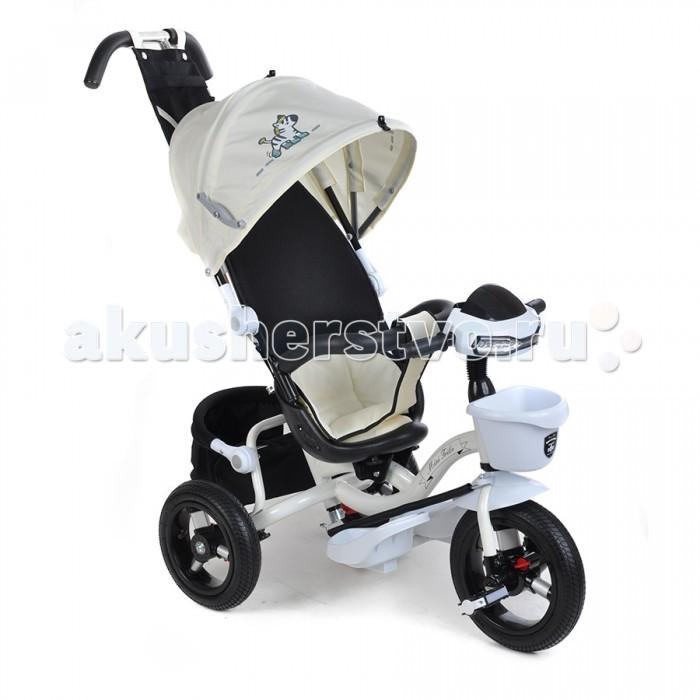 Велосипед трехколесный Mars Mini Trike 960-2Mini Trike 960-2Велосипед трехколесный Mars Mini Trike 960-2 обеспечит комфорт и удовольствие для вашего малыша во время прогулки.  Такой универсальный детский транспорт позволяет ребенку как ездить самостоятельно, так и кататься под контролем взрослого. При самостоятельном передвижении ребенок будет приводить велосипед в движение при помощи педалей и управлять им рулем. Если же велосипед выполняет функцию прогулочной коляски, взрослый сможет толкать его перед собой при помощи специальной ручки, которая также служит и для управления.  Особенности: Велосипед детский Mini Trike 960-2 с фарой на надувных колесах Преимуществом надувных колес является хорошее сцепление с дорогой, плавный и мягкий ход. Накачанные колеса не шумят при езде, не стираются на асфальте и с легкостью преодолевают неровности дороги. Велосипед имеет стальную облегченную раму.  Велосипед оснащен удобной двойной хромированной родительской ручкой, с помощью которой можно управлять велосипедом — поворачивать руль. Колесные диски изготовлены из стали.  Капюшон складной, оснащен фиксатором уровня открытости.  Смотровое окошко на задней части капюшона.  Специально для маленьких деток, велосипед укомплектован удобной широкой подножкой, на которую ребенок может ставить ножки для отдыха. Подножки складные. Для максимального сцепления, педальки и подножки оборудованы резиновыми накладками с насечками.  Удобное сидение с высокой спинкой, обтянутой воздухопроницаемой (дышащей) тканью и мягким подголовником.  Велосипед оснащен ограждением (бортиком).  На родительскую ручку крепится сумочка, внизу установлена багажная корзина. На руле находится мягкая поролоновая накладка для защиты головы ребёнка и громкий клаксон.  Пластмассовая корзина для мелочей на нижней части руля.  Сиденье с высокой воздухопроницаемой спинкой и мягким тканевым вкладышем 2 уровня наклона сидения со спинкой. Надувные колеса диаметром 12/10 (переднее и задние соответственно), ножной тормоз на задн