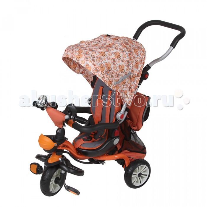 Велосипед трехколесный Mars TrikeTrikeВелосипед трехколесный Mars Trike обеспечит комфорт и удовольствие для вашего малыша во время прогулки.  Такой универсальный детский транспорт позволяет ребенку как ездить самостоятельно, так и кататься под контролем взрослого. При самостоятельном передвижении ребенок будет приводить велосипед в движение при помощи педалей и управлять им рулем. Если же велосипед выполняет функцию прогулочной коляски, взрослый сможет толкать его перед собой при помощи специальной ручки, которая также служит и для управления.  Особенности: удобная широкая съемная подножка регулируемая складная ручка разъемный бампер сиденье с высокой регулируемой спинкой мягкая накладка на сиденье пятиточечные ремни безопасности с мягкими плечевыми накладками и паховой защитой колеса из мягкого пластика диаметром 10/8 (переднее и задние соответственно) тормоза на задние колеса увеличенный капор с москитной сеткой, который может служить смотровым окном в задней части капора на задней части капора дополнительный карман для мелочей маленькая сумка пластиковый багажник с удобной сумкой подставка для бутылочки с защитным колпаком сетчатый карман на руле для мелочей клаксон зеркало заднего вида Размер: 103х50х110 см<br>
