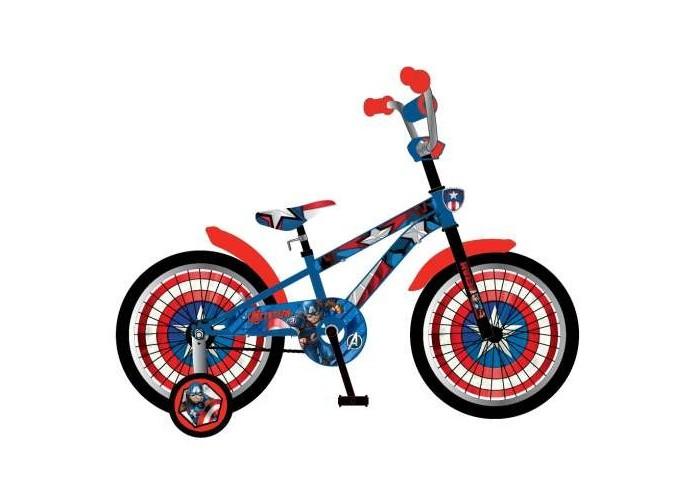 Велосипед двухколесный Марвел (Marvel) Мстители ВН18093Мстители ВН18093Marvel Мстители Детский двухколёсный велосипед ВН18093 для детей от 5 до 7 лет, созданный по мотивам популярного мультфильма Капитан Америка.  Особенности: колеса 18   огромный щит на руле  пластиковые вставки в колеса  пластиковые крылья  мягкое седло  гладкие покрышки слики  страховочные колеса вело  P-образная защита цепи  задний ножной тормоз<br>