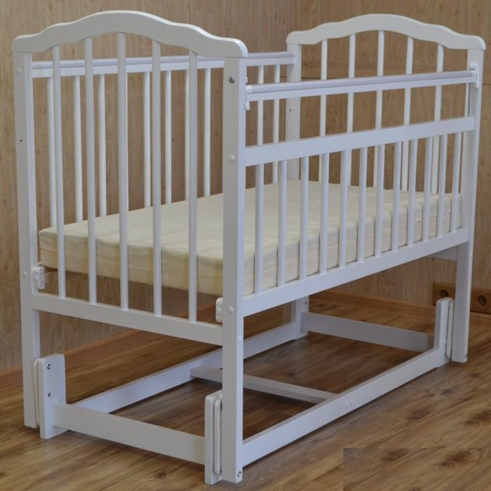 детские кроватки агат золушка 6 маятник продольный с ящиком Детские кроватки Malika Melisa-3 (продольный маятник)