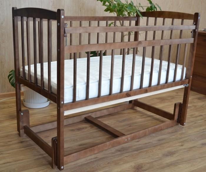 Детская кроватка Массив Беби маятник продольный