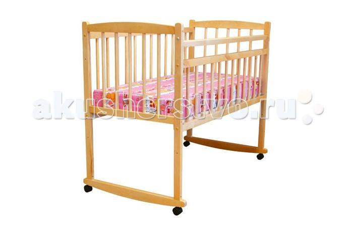 Детская кроватка Массив Беби опускающееся боковое ограждение качалка