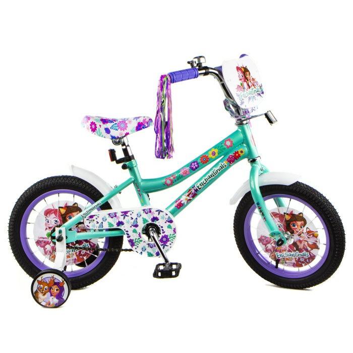 Купить Двухколесные велосипеды, Велосипед двухколесный Mattel Enchantimals колеса 14
