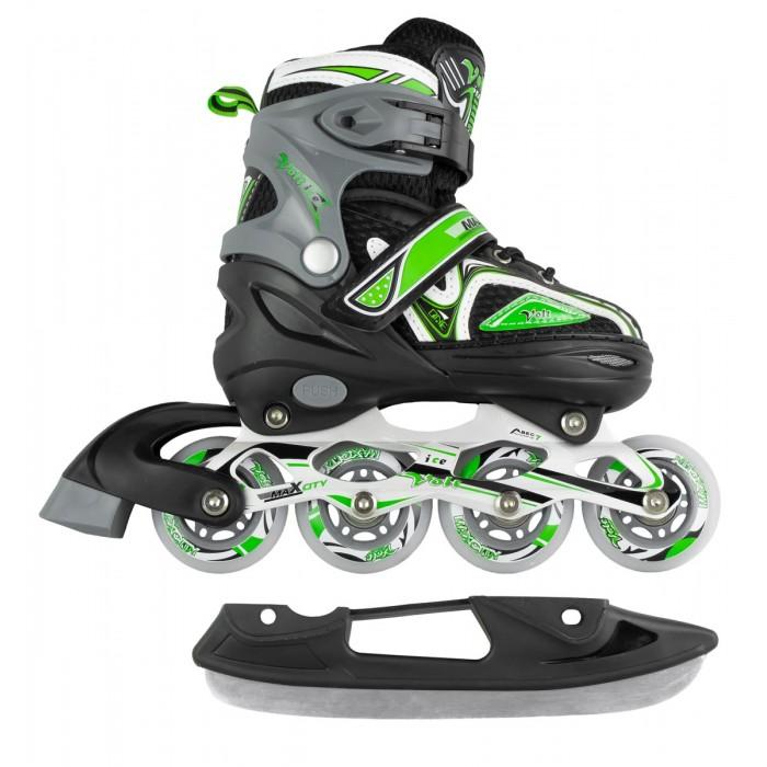 Купить Ледовые коньки и лыжи, MaxCity Подростковые коньки-ролики Volt ice