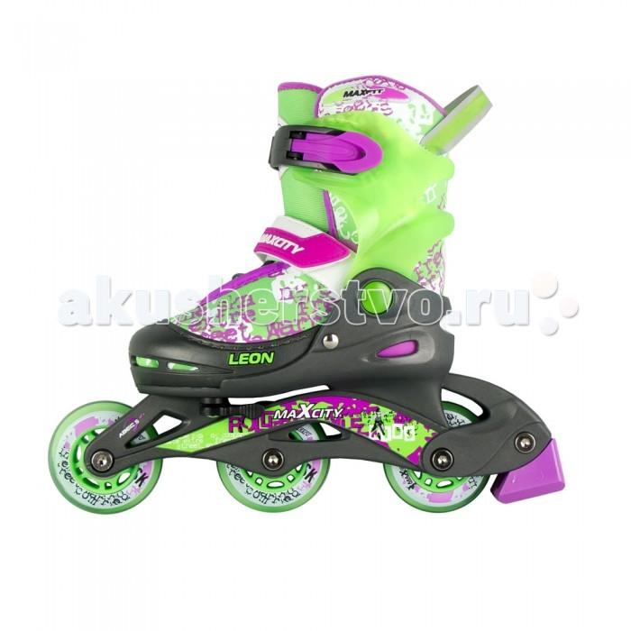 Детский транспорт , Роликовые коньки MaxCity Leon арт: 304554 -  Роликовые коньки