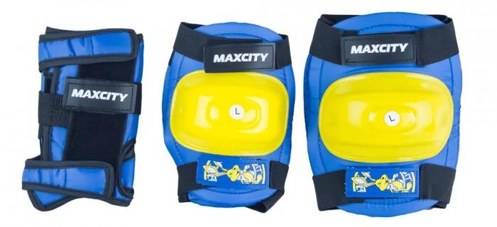Шлемы и защита MaxCity Роликовая защита Little Rabbit комплект защиты maxcity teddy m blue