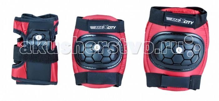 Шлемы и защита MaxCity Роликовая защита Match комплект защиты maxcity teddy m blue