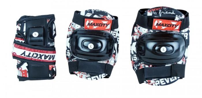 Шлемы и защита MaxCity Роликовая защита Teddy защитные наколенники налокотники oem 074