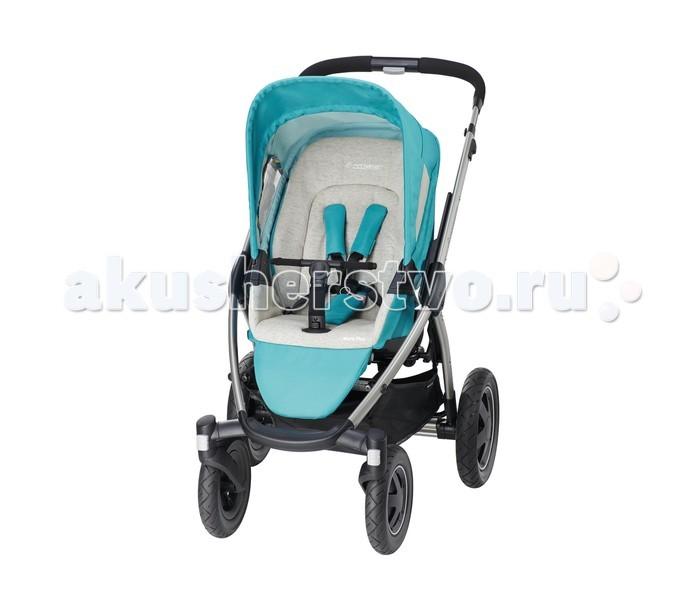 Прогулочная коляска Maxi-Cosi Mura Plus 4Mura Plus 4Maxi-Cosi Mura Plus 4 – оригинальная и очень удобная прогулочная коляска для малыша с 6 месяцев до 4 лет (до 20 кг). Это всесезонная коляска, настоящий вездеход.  Шасси:  рама из алюминия;  простая складная конструкция со съемными колесами;  ручка коляски телескопическая и регулируется по высоте от 100 см до 107 см;  покрытие ручки гиппоаллергенное;  привод задних тормозов ножной;  колеса из вспененной резины;  передние колеса вращаются на 360 градусов и могут фиксироваться в одном положении;  на раме закреплены адаптеры для установки детского автокресла;  большая корзина для покупок весом до 5 кг;  ширина шасси 65 см позволяет использовать для перевозки стандартный лифт.  Прогулочный блок:  сидение устанавливается в двух положениях:  по ходу движения и ли лицом к маме;  спинка сидения регулируется по углу наклона до положения сна;  большой съемный капюшон защищает ребенка от дождя и ветра;  обивка сидения полностью съемная с возможностью стирки;  в материал встроены светоотражающие элементы;  размеры сидения: ширина 28 см, высота спинки 48 см.  В комплекте:  шасси;  четыре колеса;  прогулочный блок;  капюшон;  дождевик;  корзина.  Габариты: Размеры в собранном виде(ДхШхВ) 107х65х51 см Размеры (ДхШхВ) 106х65х95 см Вес 16.6 кг<br>