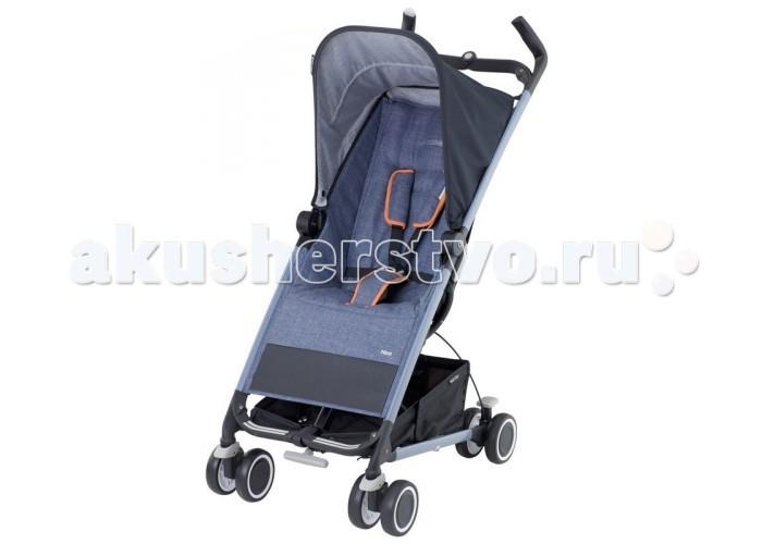 Коляска-трость Maxi-Cosi NoaNoaMaxi-Cosi Noa – компактная и легкая прогулочная коляска. Она имеет четыре пары сдвоенных колес, едет легко, а передние поворотные колеса добавляют управляемости.  Maxi-Cosi Noa подойдет для ежедневных прогулок с ребенком, а в путешествиях и поездках она просто незаменима. Коляска складывает одной рукой, а для транспортировки в нее встроена выдвижная ручка, как у чемодана. Maxi-Cosi Noa легко катить за собой, а перевозить в багажнике ее можно как в вертикальном, так и в горизонтальном положении.  Особенности:  - стильный спортивный дизайн; - регулируемая спинка – 2 положения (сидя и полулежа); - удобный кармашек для мелочей на спинке; - четыре пары колес, передние – плавающие; - система тормозов из двух рычагов (блокировка/разблокировка); - компактное складывание одной рукой, в сложенном виде можно катить; - вместительная корзина для покупок.  Maxi-Cosi Noa в собранном виде занимает очень мало места, при этом ее можно хранить, как в горизонтальном, так и в вертикальном положении. Коляской легко управлять, она устойчива.  - Оборудована 5- ти точечными ремнями безопасности с мягкими накладками - Чехол легко снимается и стирается - Вместительный карман для мелочей на спинке сиденья - 4 сдвоенных колеса - Плавающие передние колеса с возможностью фиксации - Специальная система тормозов - красный рычаг блокирует колеса, серебристый - разблокирует. - Большая корзина для покупок - Очень компактна в сложенном виде - Легко складывается и раскладывается - Для детей от 6 месяцев до 3,5 лет (до 15 кг) - Вес 7 кг   Комплектация: козырек от солнца, дождевик, корзина для покупок, адаптер для зонтика.  Размеры коляски: - В разложенном виде: 103,5 x 62 x 48 см - В сложенном виде: 36 x 68,5 x 31 см<br>