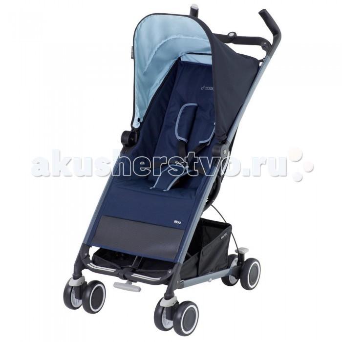 Коляска-трость Maxi-Cosi NoaNoaКоляска-трость Maxi-Cosi Noa – компактная и легкая прогулочная коляска. Она имеет четыре пары сдвоенных колес, едет легко, а передние поворотные колеса добавляют управляемости.  Maxi-Cosi Noa подойдет для ежедневных прогулок с ребенком, а в путешествиях и поездках она просто незаменима. Коляска складывает одной рукой, а для транспортировки в нее встроена выдвижная ручка, как у чемодана. Maxi-Cosi Noa легко катить за собой, а перевозить в багажнике ее можно как в вертикальном, так и в горизонтальном положении.   Коляска в собранном виде занимает очень мало места, при этом ее можно хранить, как в горизонтальном, так и в вертикальном положении. Коляской легко управлять, она устойчива.  Особенности: стильный спортивный дизайн; регулируемая спинка – 2 положения (сидя и полулежа); удобный кармашек для мелочей на спинке; четыре пары колес, передние – плавающие; система тормозов из двух рычагов (блокировка/разблокировка); компактное складывание одной рукой, в сложенном виде можно катить; вместительная корзина для покупок. Оборудована 5- ти точечными ремнями безопасности с мягкими накладками Чехол легко снимается и стирается Вместительный карман для мелочей на спинке сиденья 4 сдвоенных колеса передние колеса с возможностью фиксации Специальная система тормозов - красный рычаг блокирует колеса, серебристый - разблокирует Большая корзина для покупок Очень компактна в сложенном виде Легко складывается и раскладывается Для детей от 6 месяцев до 3,5 лет (до 15 кг). Размеры и вес: В разложенном виде: 103,5 x 62 x 48 см В сложенном виде: 36 x 68,5 x 31 см Вес 7 кг.  Комплектация: козырек от солнца, дождевик, корзина для покупок, адаптер для зонтика.<br>