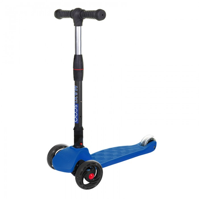 Купить Трехколесные самокаты, Трехколесный самокат Maxiscoo Baby Delux cкладной со cветящимися колесами