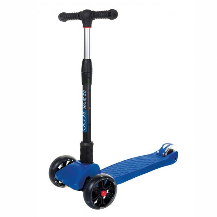 Купить Трехколесные самокаты, Трехколесный самокат Maxiscoo Junior Delux cкладной со cветящимися колесами