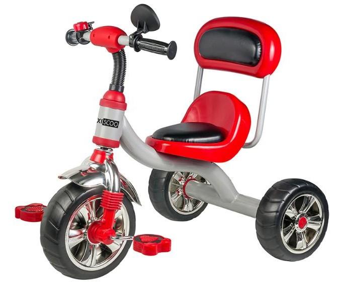 Велосипед трехколесный Maxiscoo с мягким сиденьем и спинкойТрехколесные велосипеды<br>Maxiscoo Велосипед трехколесный с мягким сиденьем и спинкой  Яркий дизайн.  Мягкое сиденье.  Мягкая высокая спинка.  Зеркало.  Звонок.  Размер: 72x47x58 см Вес 4,5 кг