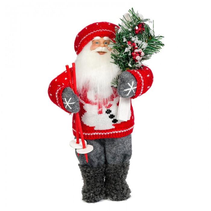 Игровые фигурки Maxitoys Дед Мороз с Лыжами мягкие игрушки woody o time плюшевый дед мороз