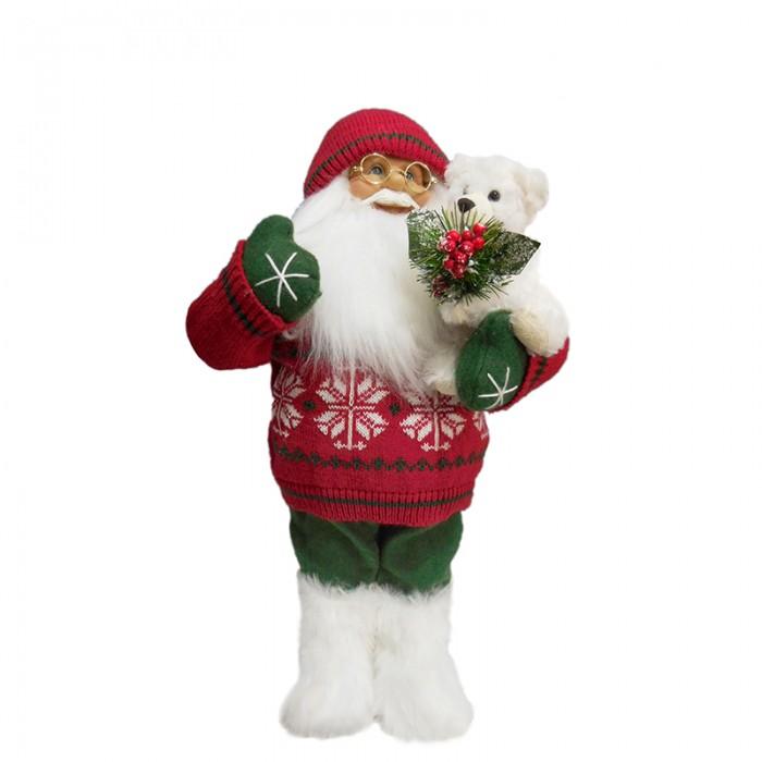 Maxitoys Дед Мороз в Красном Свитере с Мишкой