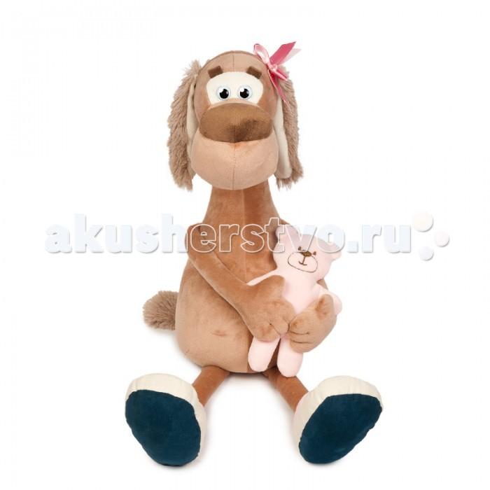 Мягкие игрушки Maxitoys Собачка Мила с Мишкой maxitoys подушка с ручками