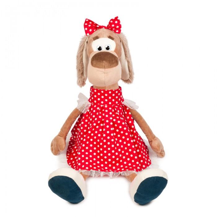 Мягкие игрушки Maxitoys Собачка Мила в Платье мягкие игрушки maxitoys собачка наденька с сердцем