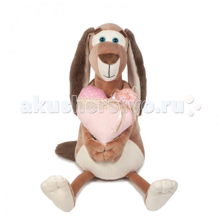 Мягкие игрушки Maxitoys Собачка Наденька с Сердцем maxitoys подушка с ручками