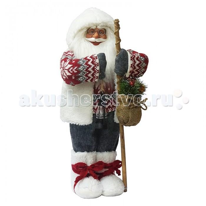 Игровые фигурки Maxitoys Фигура Дед Мороз с Посохом в Свитере фигурки игрушки maxitoys дед мороз в шубе