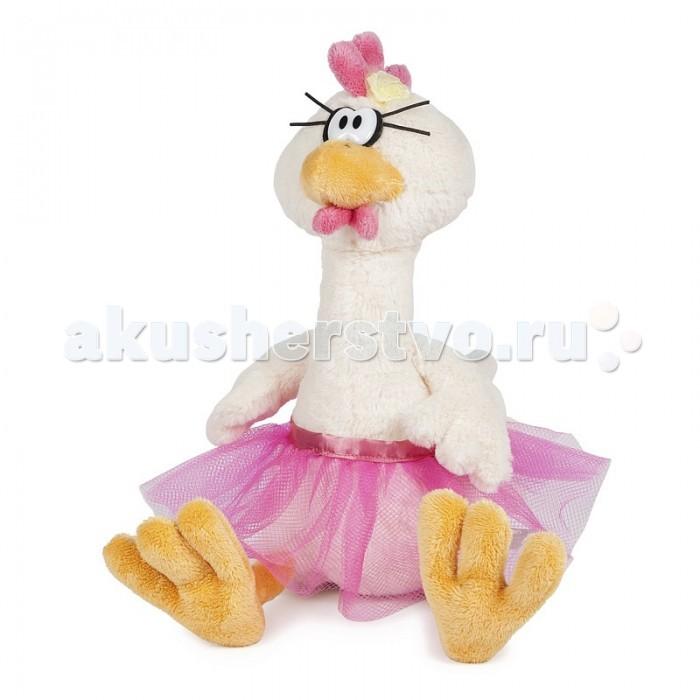 Купить Мягкие игрушки, Мягкая игрушка Maxitoys Курочка Балерина 29 см