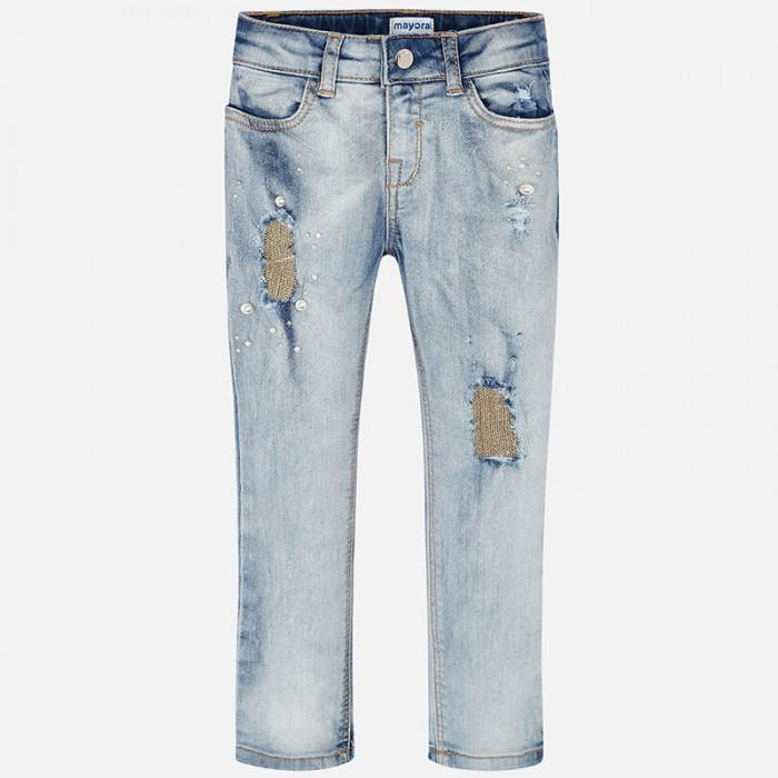 Купить Брюки, джинсы и штанишки, Mayoral Брюки для девочки 3503