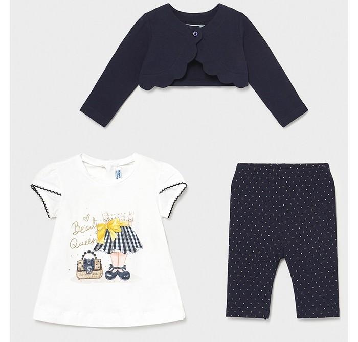 Комплекты детской одежды Mayoral Комплект для девочки (болеро, футболка, леггинсы) 1706