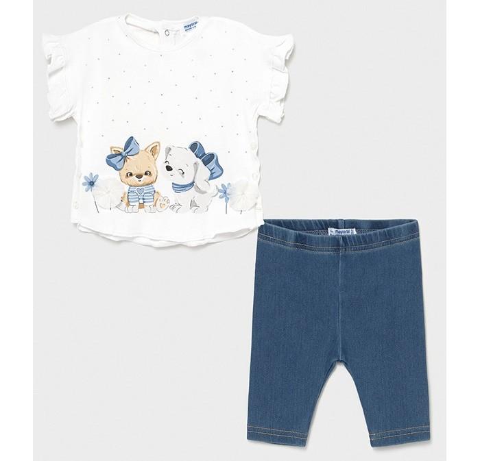 Mayoral Комплект для девочки (футболка, леггинсы) 1709