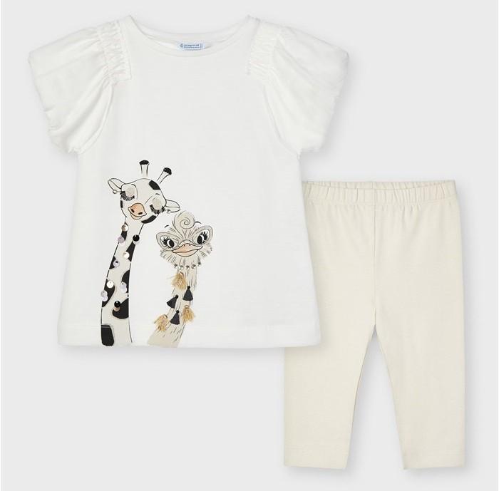 Комплекты детской одежды Mayoral Комплект для девочки (футболка, леггинсы) 3737 mayoral водолазка mayoral для девочки