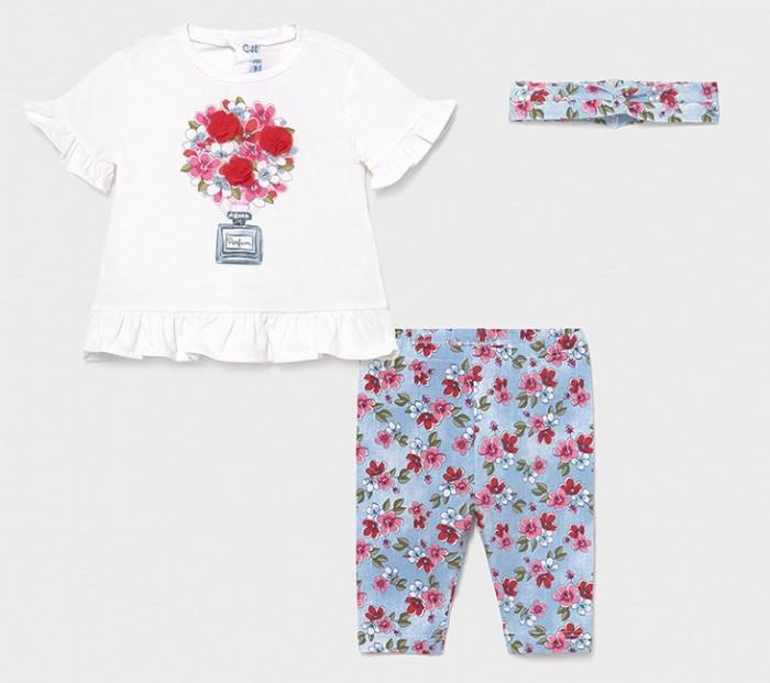 Mayoral Комплект для девочки (футболка, леггинсы, повязка) 1713
