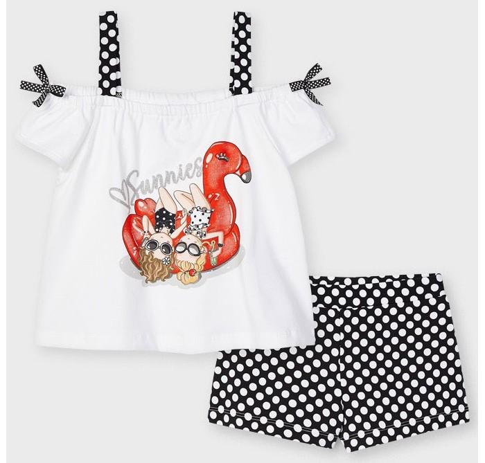 Картинка для Mayoral Комплект для девочки (футболка, шорты) 3213