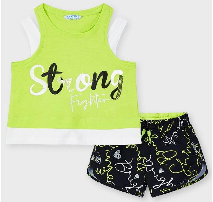 Картинка для Mayoral Комплект для девочки (футболка, шорты) 3221