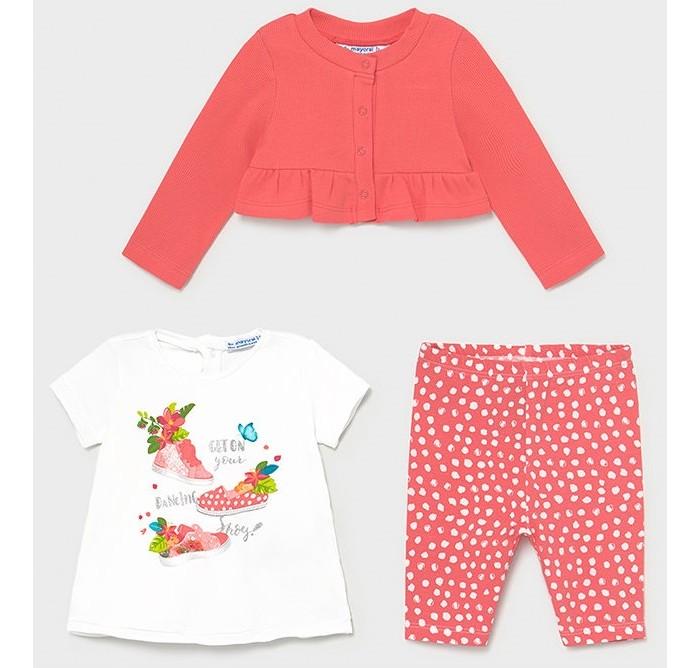 Комплекты детской одежды Mayoral Комплект для девочки (кардиган, футболка, леггинсы) 1710