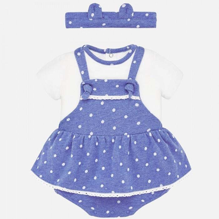 Картинка для Mayoral Комплект для девочки (комбинезон, футболка и повязка) New Born 1683