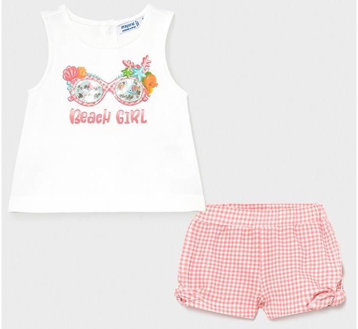 Комплекты детской одежды Mayoral Комплект для девочки (шорты, футболка) Beach Girl 1231