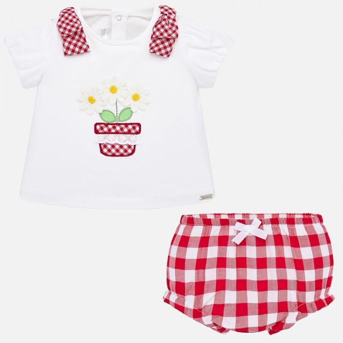 Картинка для Mayoral Комплект для девочки (шорты и футболка) Цветок New Born 1138