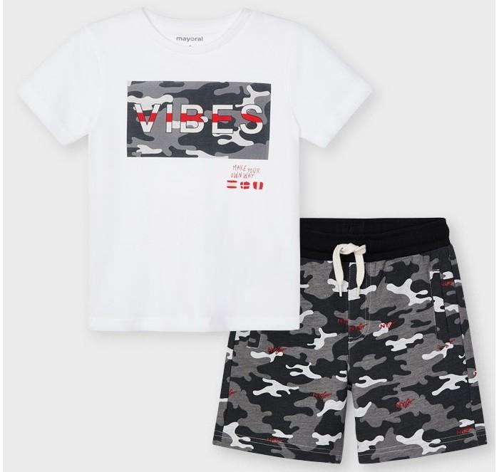 Комплекты детской одежды Mayoral Комплект для мальчика (фуфайка, шорты) 3645