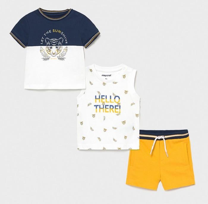 Комплекты детской одежды Mayoral Комплект для мальчика (майка, футболка, шорты) 1668 недорого