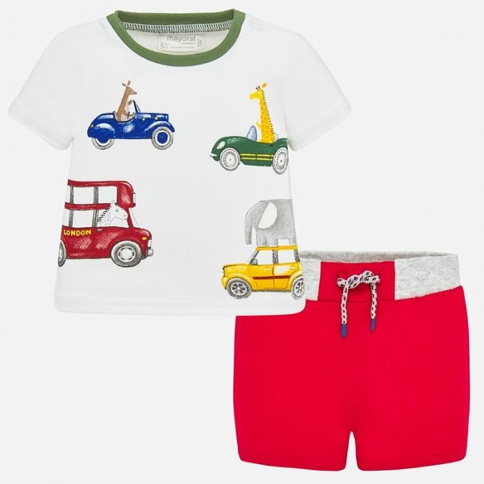Mayoral Комплект для мальчика (шорты и фуфайка) Машинки New Born 1278 фото