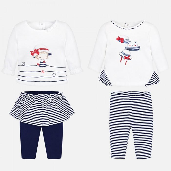 Купить Комплекты детской одежды, Mayoral Комплект одежды для девочки 2 фуфайки и 2 легинс 1607