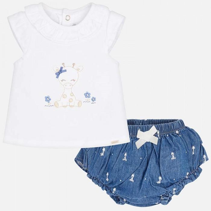 Mayoral Комплект одежды для девочки фуфайка и шорты 1102