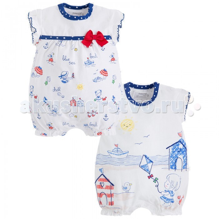 Детская одежда , Боди и песочники Mayoral Комплект песочников для девочки 1760 арт: 444204 -  Боди и песочники