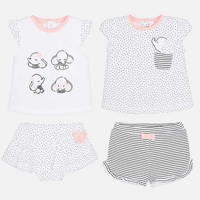 Mayoral Комплект одежды для девочки 2 футболки и 2 шорт 1606